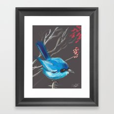 Little Blue Fairy Framed Art Print