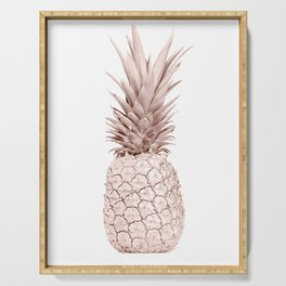 Pineapple Rose Gold Serving Tray