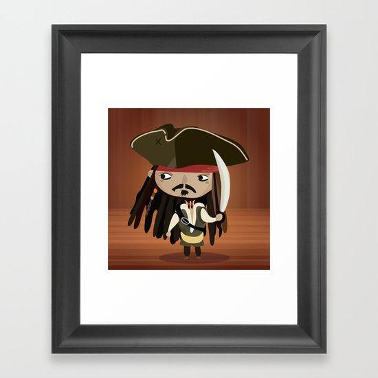 Captain Sparrow Framed Art Print
