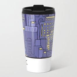 NEW YORK Card Metal Travel Mug