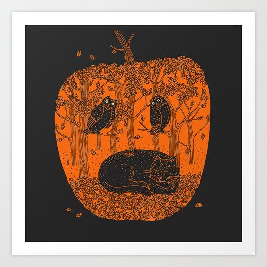 Pumpkin Story. Chapter 1 Art Print