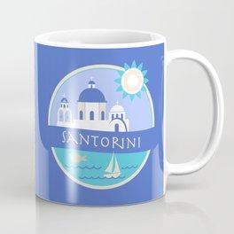 Santorini Greece Badge Coffee Mug