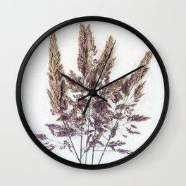 Velvet Grass Wall Clock