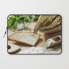 Fresh bread and wheat germ Laptop Sleeve