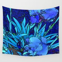 iris Wall Tapestries featuring Iris by lillianhibiscus