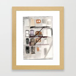 Bushwick Fire Escape Framed Art Print