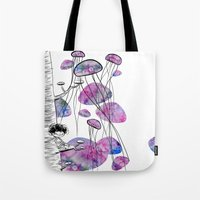 swim Tote Bags featuring swim by serenita