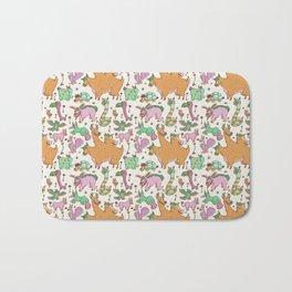 Funky Critter Pattern Bath Mat
