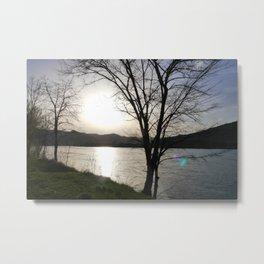 Sunset at the Danube River Metal Print