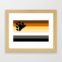 Gay Bear Brotherhood Flag Framed Art Print