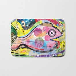 Fish Panting for a Drink with Hemingway in Havana Bath Mat
