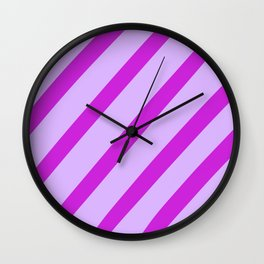 Royal Stripes Wall Clock