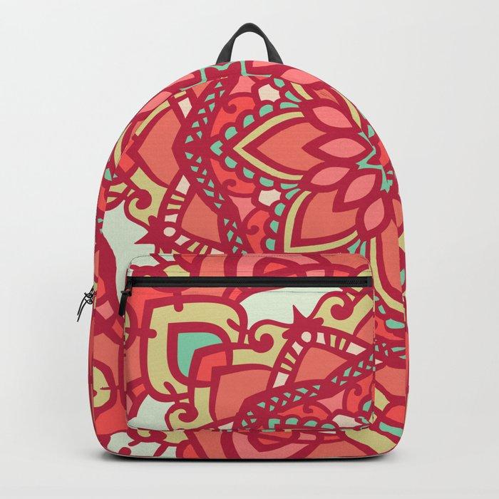 Abstract Mandala Flower Decoration 16 Backpack