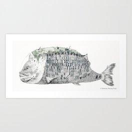 Fish Scale Building Art Print