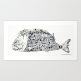 Fish Scale Building Art Print