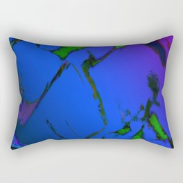 Colliding panels blue Rectangular Pillow