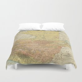 Vintage Map of Guatemala (1902) Duvet Cover