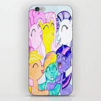 my little pony iPhone & iPod Skins featuring My Little Pony by Maranda Rae