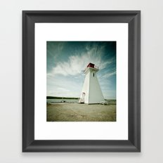 lighthouse. Framed Art Print