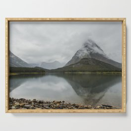 Reflection of Mountains - Glacier NP Serving Tray