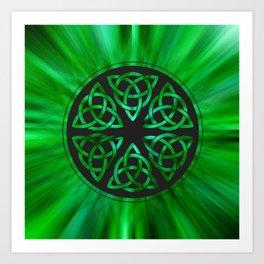 Celtic Knot Star Flower Art Print