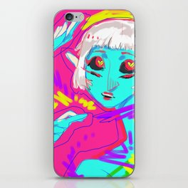 Alien in Love iPhone Skin