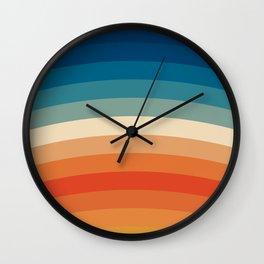 Summer Color Lines Wall Clock