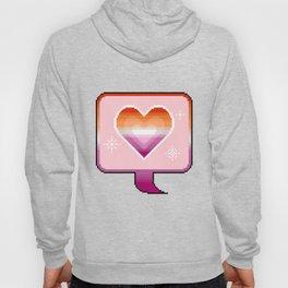 Lesbian Pride Heart Speech Bubble Hoody