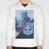 optimus prime Hoodies featuring Optimus Prime  by JMH Art
