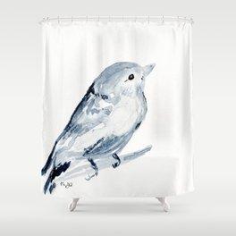 Inky Bird Shower Curtain