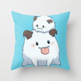 LoL Poro - Blue ver. Throw Pillow