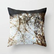 Rust Circles Throw Pillow