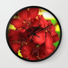 """""""Flowers in Your Hair"""" Wall Clock"""