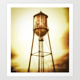 Texas Water Tower Art Print