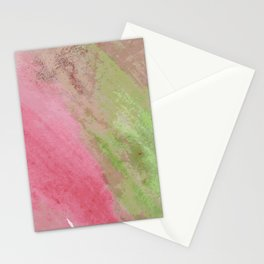 Abstract pink green watercolor ombre brushstrokes Stationery Cards