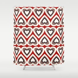 Strawberry and Chocolate Cream Love Hearts Shower Curtain