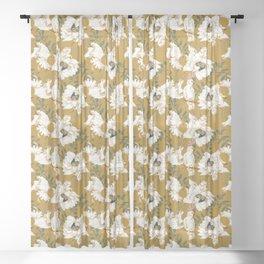White tropical bird Sheer Curtain