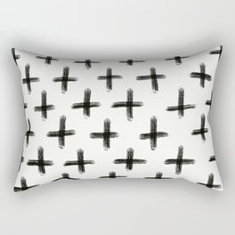 Painted Cross Pattern Rectangular Pillow