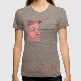 Blinking Intensifies - White Guy Blinking Meme T-shirt