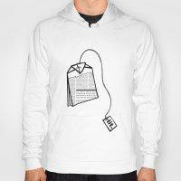 literary Hoodies featuring Literary Tea by Lizzi Davis