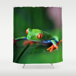 Little Tree Frog (Color) Shower Curtain