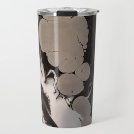 Black and silver marble Travel Mug