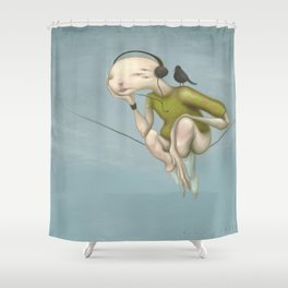 Up here with you Shower Curtain
