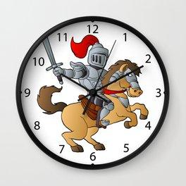 Knight on Horse Wall Clock