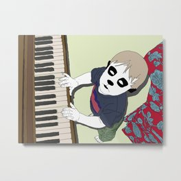 The Pet Piano Metal Print