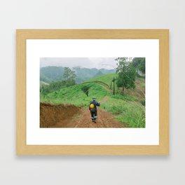 HILLY TRAILS Framed Art Print