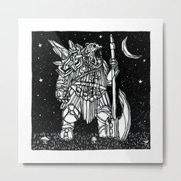 Werebear Warlord Metal Print