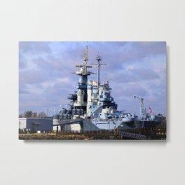 USS North Carolina BB-55 Metal Print