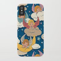 angels iPhone & iPod Cases featuring Angels by Helene Michau