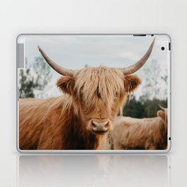 Highland Cow In The Country Laptop & iPad Skin